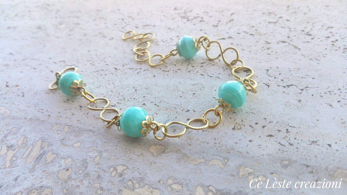 idea regalo festa della mamma bracciale di perle turchesi