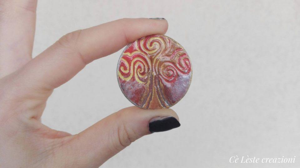 Albero della vita ciondolo artigianale realizzato da Cè Lèste creazioni